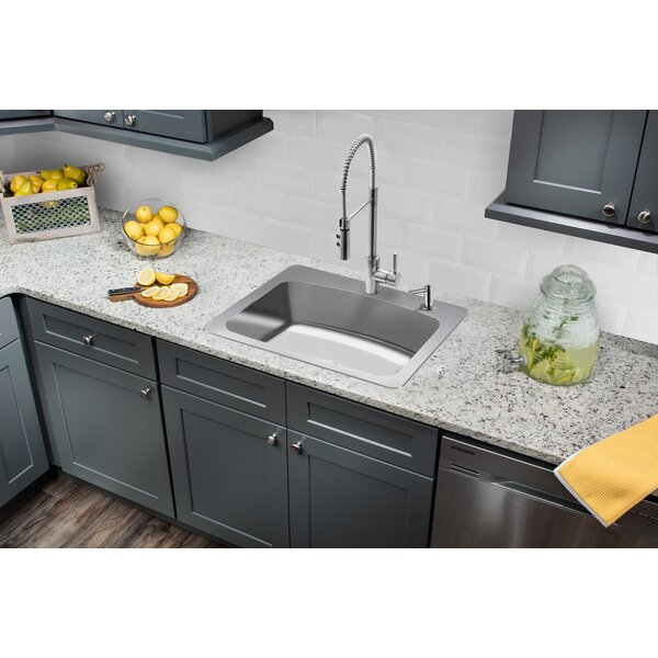 Stainless Steel 33 L x 22 W Drop-in Kitchen Sink