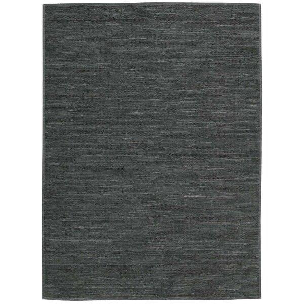 Santos Hand-Woven Dark Gray Area Rug by Bloomsbury Market
