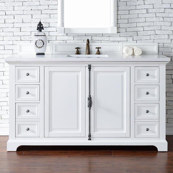 Ogallala 60 Single Cottage White Stone Top Bathroom Vanity Set by Greyleigh