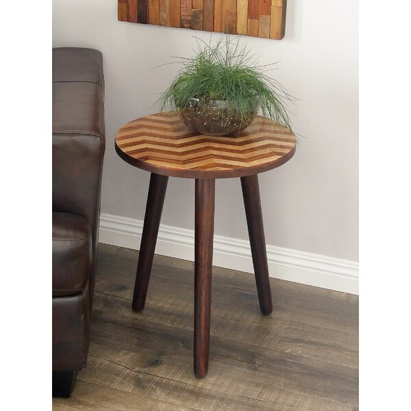 Dos Palos Contemporary End Table by Bungalow Rose