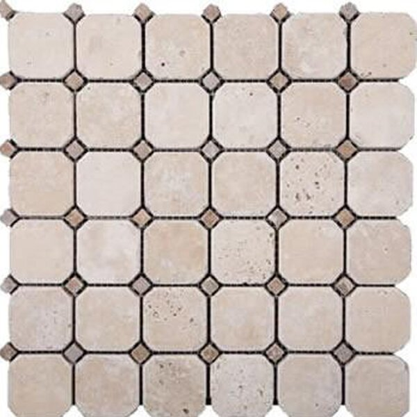 1'' x 1'' Travertine Mosaic Tile in Honed Ivory by Epoch Architectural Surfaces