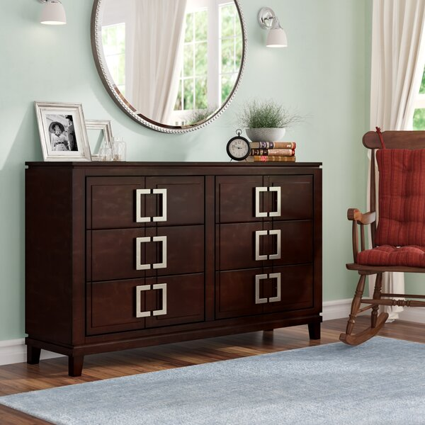 Suruga 6 Drawer Double Dresser with Mirror by Latitude Run