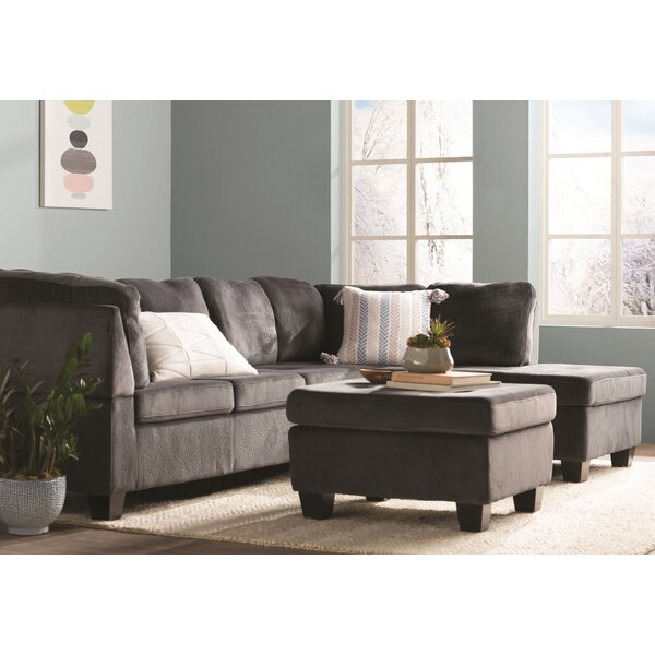Hardin Right Hand Facing Sectional with Ottoman by Red Barrel Studio