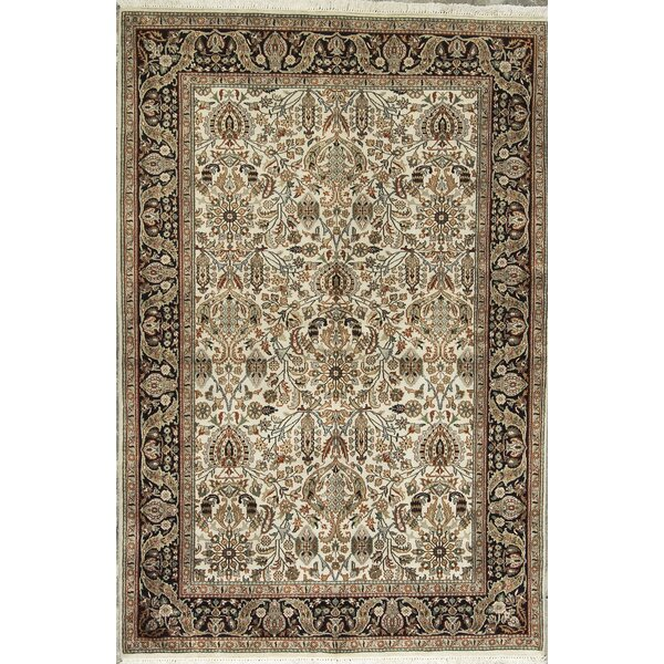 One-of-a-Kind Hand-Knotted Wool Beige/Black Area Rug by Bokara Rug Co., Inc.