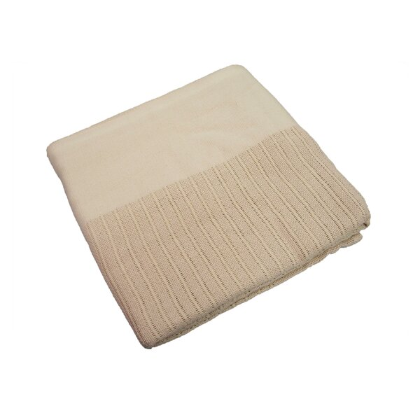 Stacey Thermal Leno Weave Cotton Blanket by Charlton Home