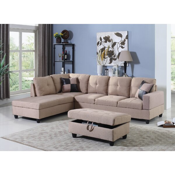Fawcett Sectional with Ottoman by Winston Porter