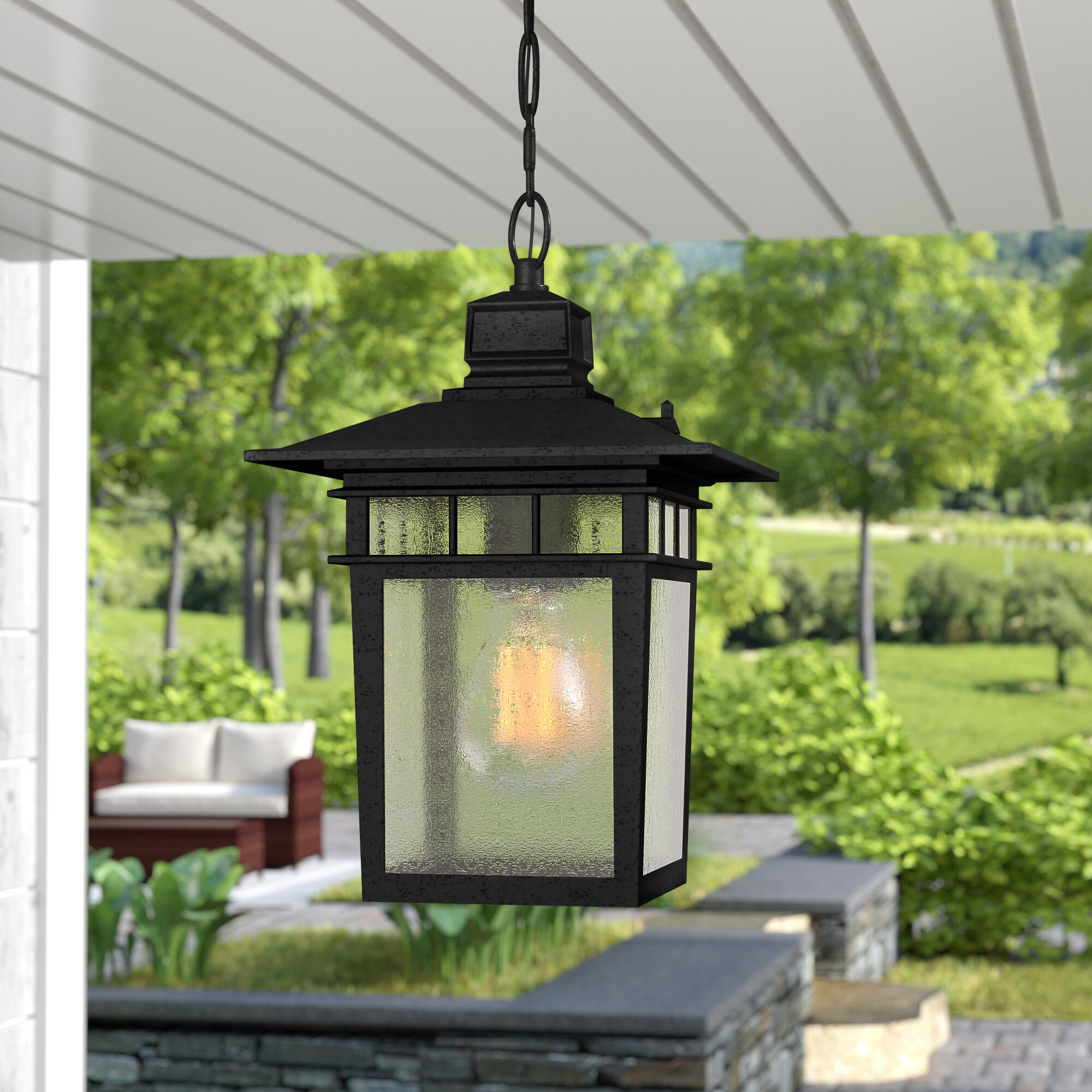 Bulb 12 H Outdoor Hanging Lantern