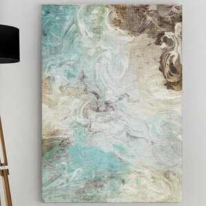 'Aqua Marble' by Nan Framed Photographic Print on Wrapped Canvas by Wexford Home