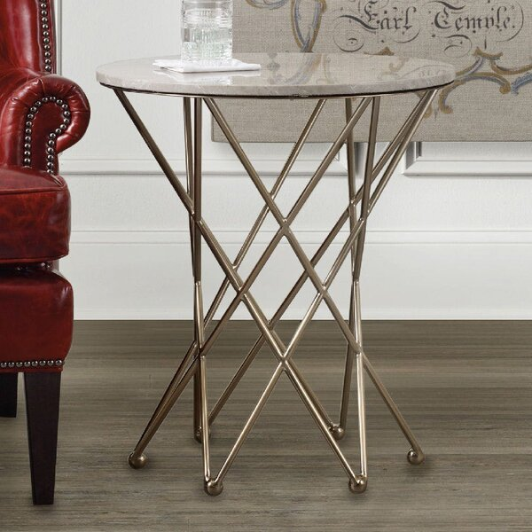 Highland Park End Table with Marble Top by Hooker Furniture
