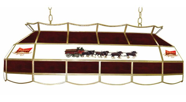 Budweiser Clydesdale 2 Light Tiffany Billiard Light By Trademark Global.