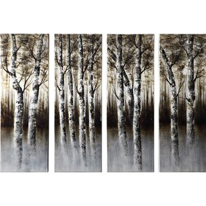 Through the Woods 4 Piece Painting Print on Canvas Set by Wildon Home ®