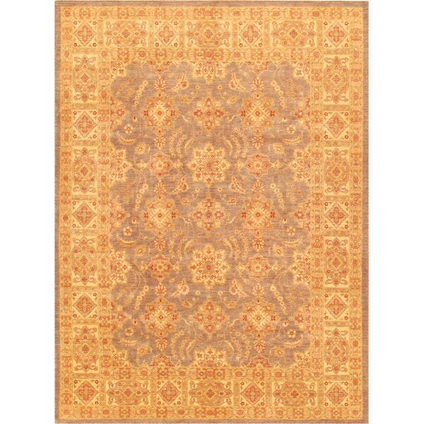 Ferehan Hand-Knotted Orange Area Rug by Pasargad