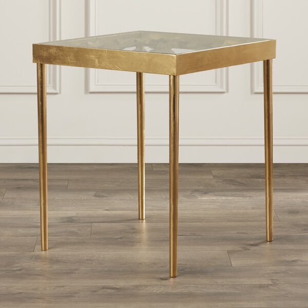 Butterfly Glass Top End Table By Willa Arlo Interiors