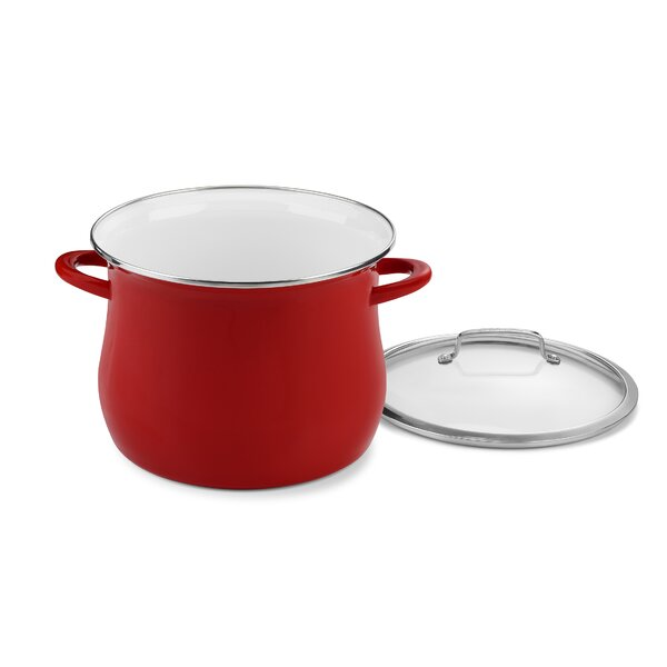 Contour Enamel on Steel Stock Pot with Lid by Cuisinart