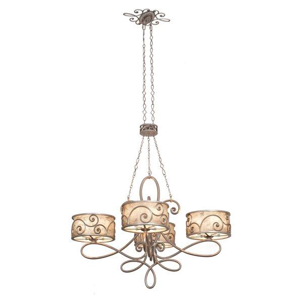 Pontius 20-Light Shaded Geometric Chandelier By Fleur De Lis Living