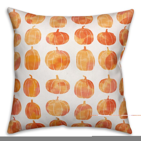 Pumpkins Double Sided Print Throw Pillow by The Holiday Aisle