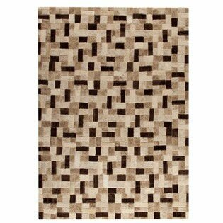 Puzzle Hand-Tufted Beige Area Rug by Hokku Designs