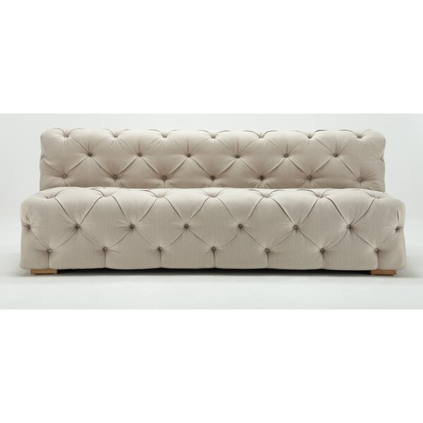 Pratt Tufted Armless Sofa By Rosdorf Park
