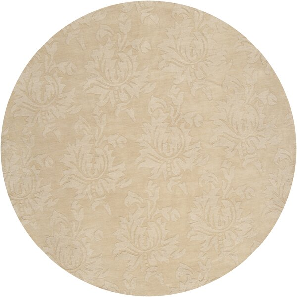 Ardal Hand-Woven Wool Cream/Beige Area Rug by Darby Home Co