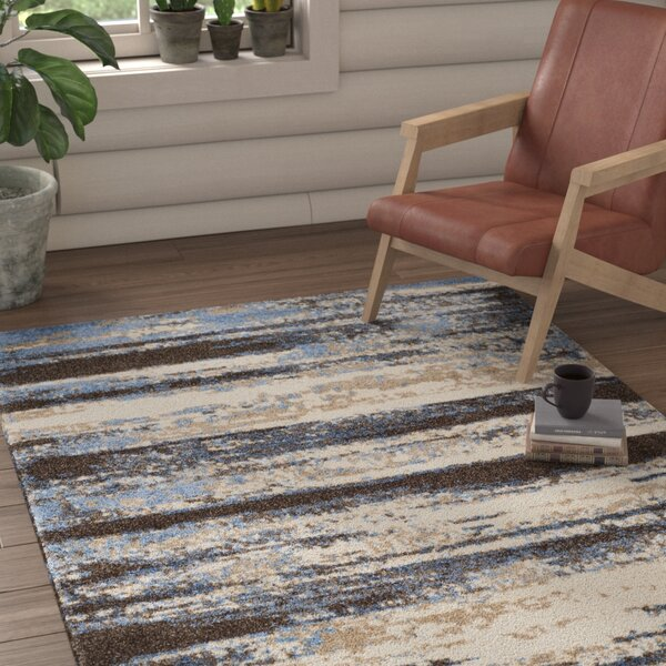 San Jacinto Cream/Blue Area Rug by Loon Peak
