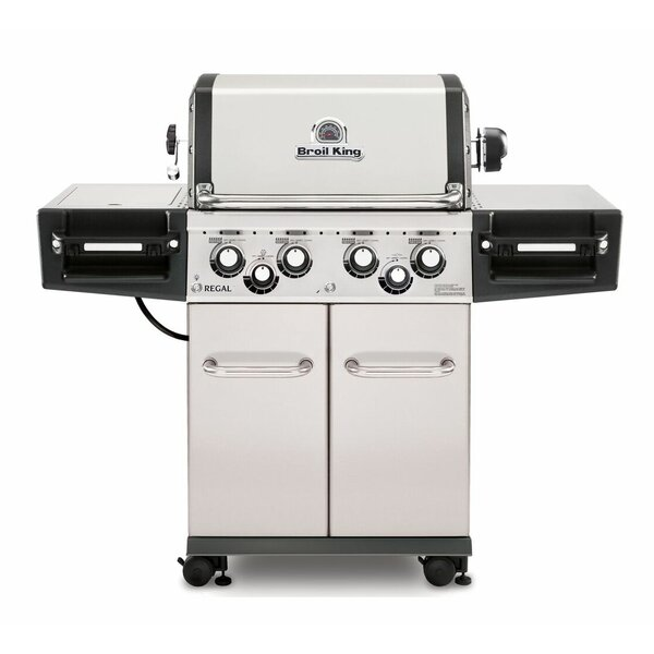 Regal 490 Pro 4-Burner Gas Grill with Side Burner by Broil King