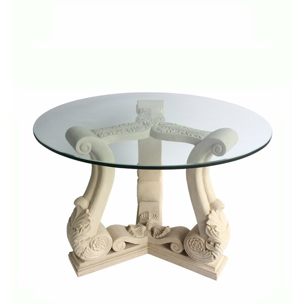 Clyda Glass Dining Table by Astoria Grand