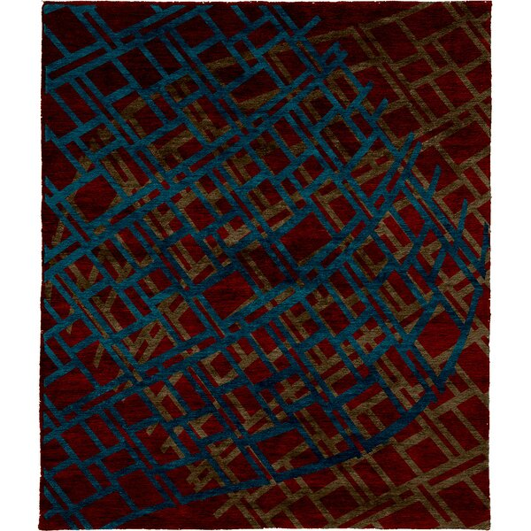 One-of-a-Kind Ethelyn Hand-Knotted Red 8' x 10' Wool Area Rug