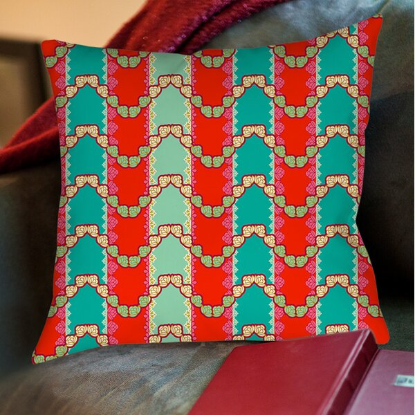 Stripe Mint Printed Throw Pillow by Manual Woodworkers & Weavers