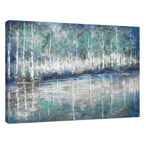 'Aspen Pond' by Tre Sorelle Studios Painting Print on Wrapped Canvas by Jaxson Rea