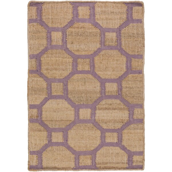 Shaffer Hand-Woven Camel/Mauve Indoor/Outdoor Area Rug by Alcott Hill