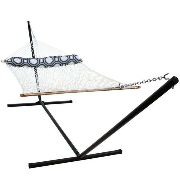 Clemens 2 Person Polyester Double Spreader Bar Hammock with Stand by Freeport Park Freeport Park