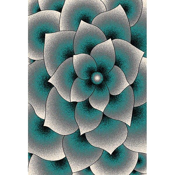 Stinson 3D Effect Blue/Gray Area Rug by Orren Ellis