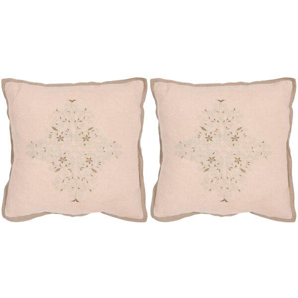 Liege Linen Throw Pillow (Set of 2) by Safavieh