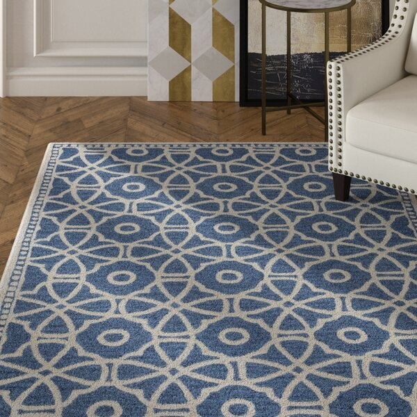 Wright Hand-Tufted Blue Area Rug by Mercer41