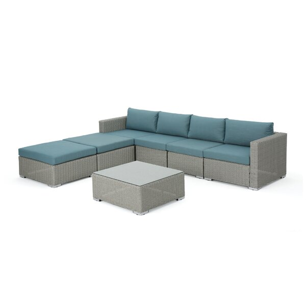 Cabral 7 Piece Sectional Seating Group with Cushions by Sol 72 Outdoor