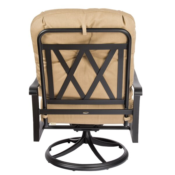 Cortland Swivel Rocking Chair with Cushions by Woodard