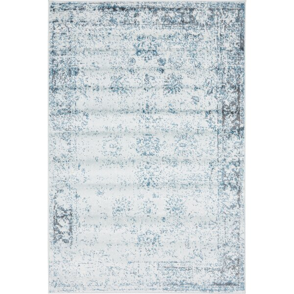 Brandt Light Blue/Ivory Area Rug by Mistana