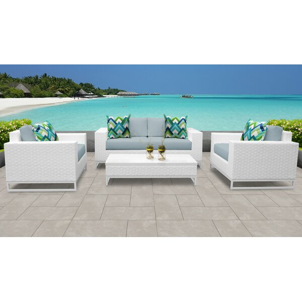 Menifee 5 Piece Sofa Seating Group with Cushions by Sol 72 Outdoor