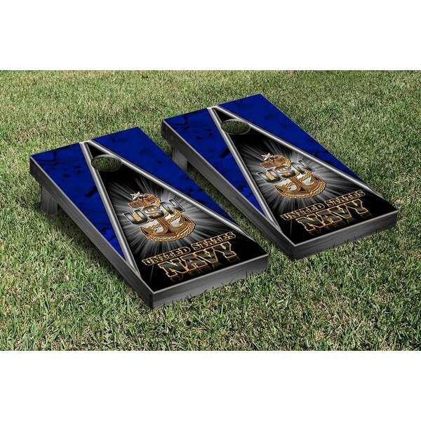 Senior Chief Triangle Cornhole Game Set by Victory Tailgate