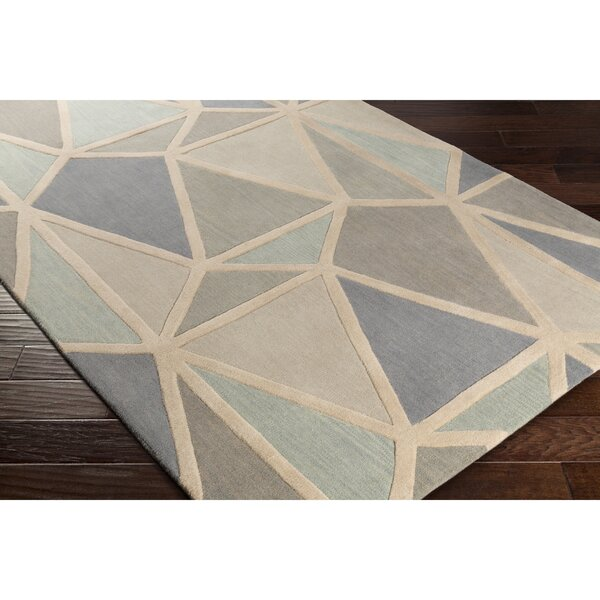 Vaughan Hand-Tufted Neutral/Gray Area Rug by Wrought Studio