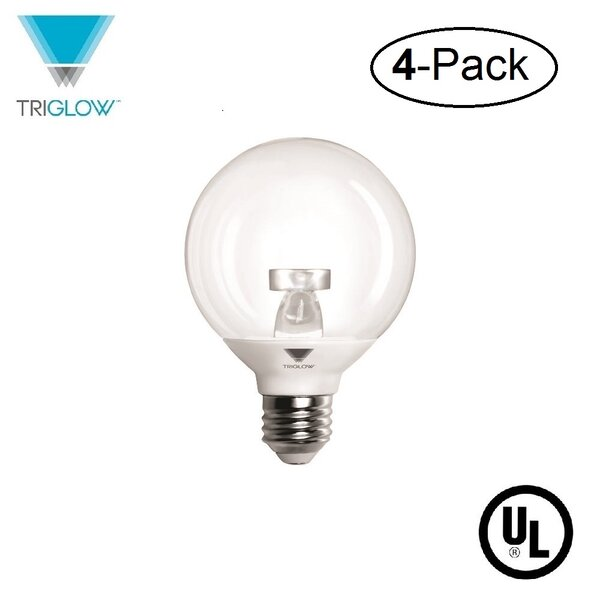 40W Equivalent E26 LED Globe Light Bulb (Set of 4) by TriGlow