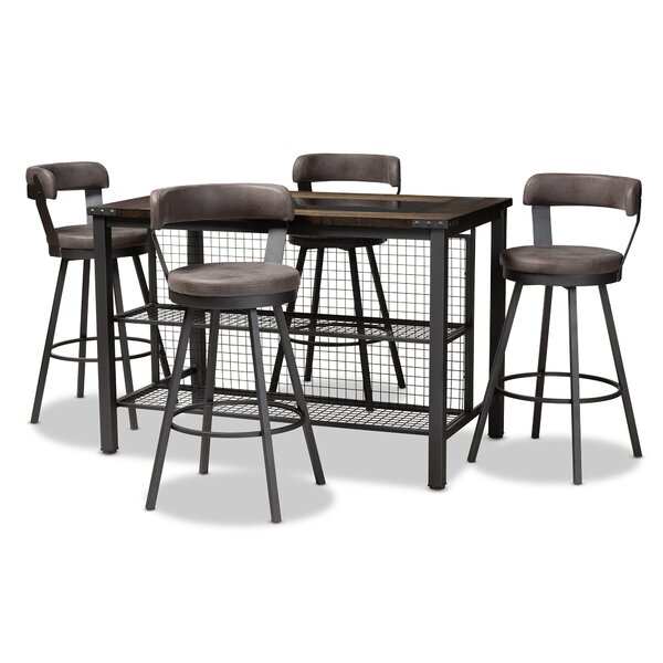 Flint 5 Piece Dining Set by Williston Forge