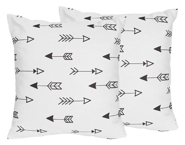 Fox Arrow Print Throw Pillow (Set of 2) by Sweet Jojo Designs