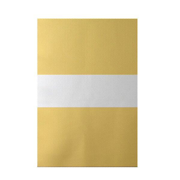 Narrow the Gap Stripe Print Soft Lemon Indoor/Outdoor Area Rug by e by design