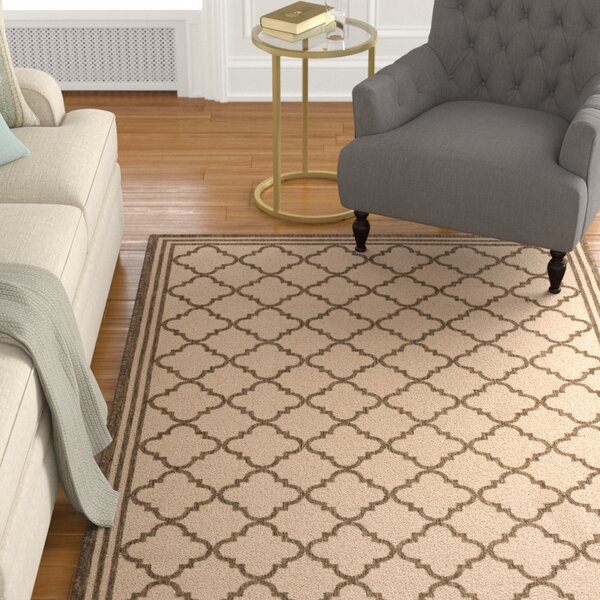 Berardi Cream/Brown Area Rug by Darby Home Co