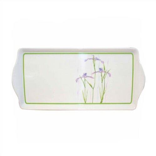 Impressions Shadow Iris Melamine Rectangular Serving Platter by Corelle