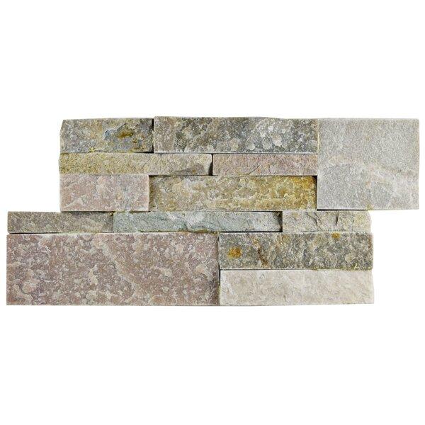 Piedro 7 x 13.5 Natural Stone Splitface Tile in Tan/Gray by EliteTile