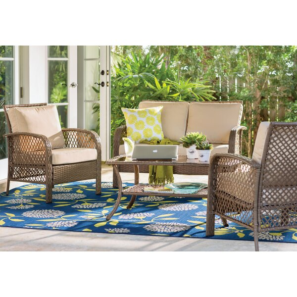 Tribeca 4 Piece Rattan Set With Cushion By Beachcrest Home