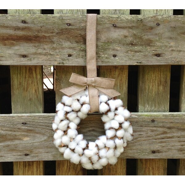 Faux Cotton 10 Wreath by Gracie Oaks