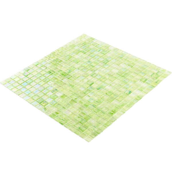 Breeze 0.62 x 0.62 Glass Mosaic Tile in Green/Yellow by Splashback Tile